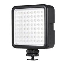 Led 64 Usb مستمر على كاميرا Led مصباح لوح قابل للنقل مصغّر عكس الضوء مسجّل وكاميرا فيديو الإضاءة لكانون نيكون سوني A7 باناسونيك