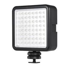 Led 64 Usb ciągłe na aparacie oświetlenie panelowe Led przenośne Mini ściemnialne oświetlenie kamery wideo dla Canon Nikon Sony A7 Panaso
