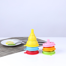 Kitchen-Tools Foldable Funnel Silicone Folding Collapsible Mini Portable 1pcs