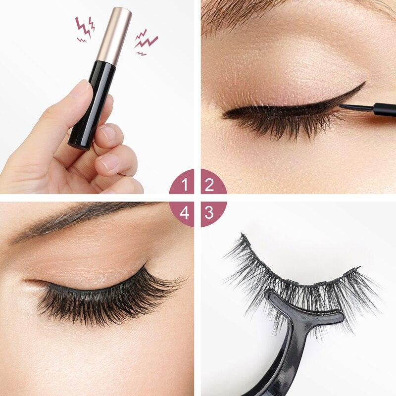 5 Pair Magnetic Eyelashes False Eyelashes Set For Beautiful Women Eyelashes Extension Mink lashes 4