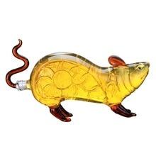Creative animal mouse shaped style home bar Whiskey Decanter for Liquor Scotch Bourbon 37.19 oz