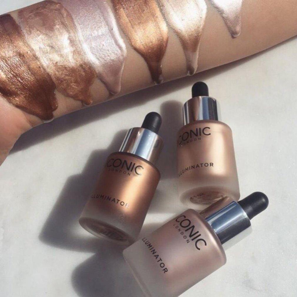 Highlighter Makeup Shimmer Face Contour Bronzing Illuminating Drops Facial Brightening Fluid Repair Foundation