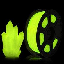 Glow In Dark PLA Filament 1kg 1.75mm Luminous for FDM 3D Printer Diameter Tolerance 0.02mm 100% No Bubble 3D Printing Material