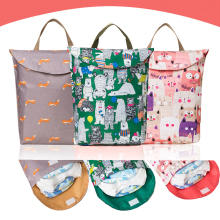 Многофункциональные детские пеленки сумки Органайзер Многоразовые водонепроницаемые модные принты Влажная/сухая сумка Мумия сумка для хранения дорожная сумка для подгузников