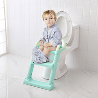Fashion Baby Potty Seat With Ladder Children Toilet Seat Cover Kids Toilet Folding Infant Potty Chair Toilet Training