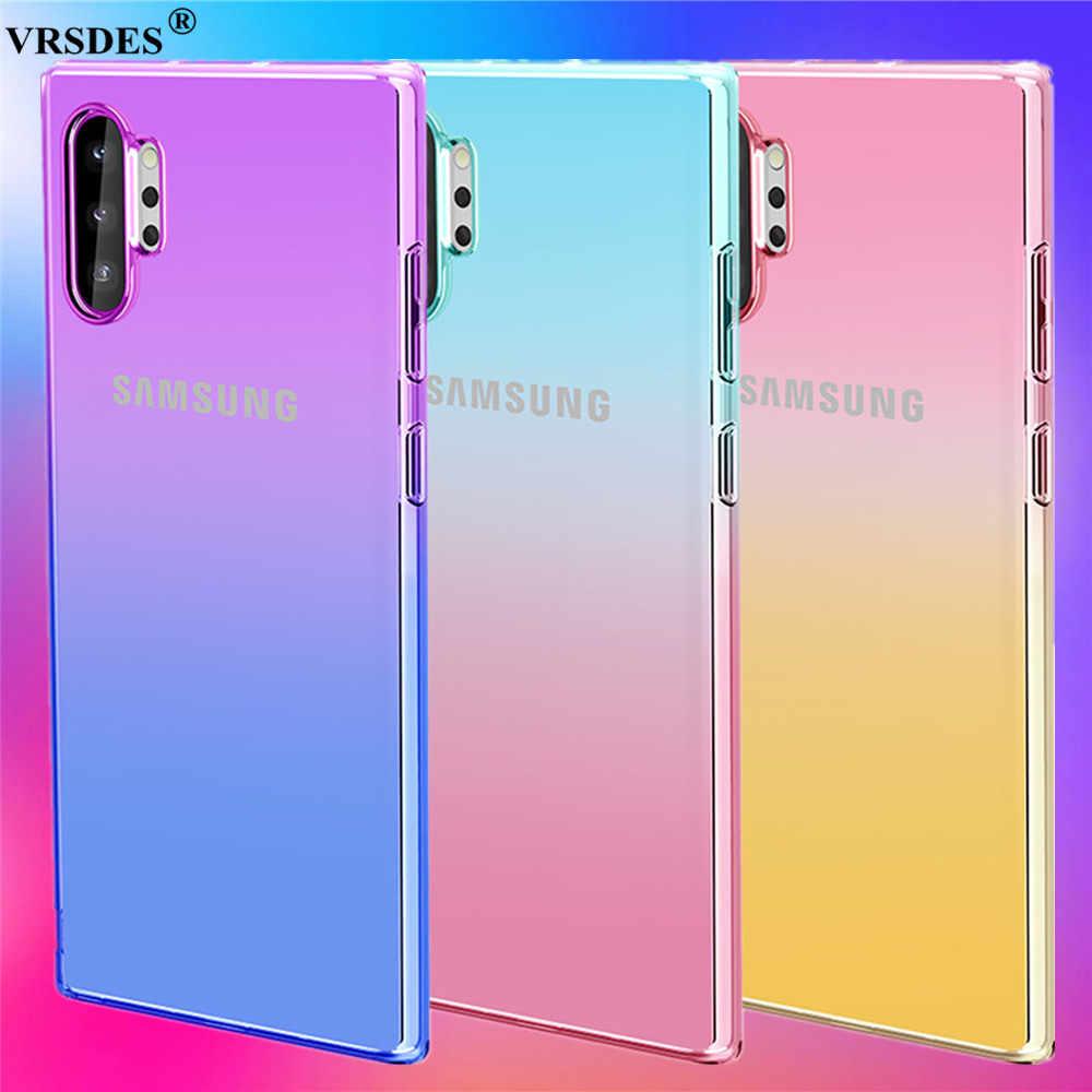 Gradient Color Soft Silicone Shockproof Case For Samsung Galaxy Note 10 Plus 5g S10e S10 5g S9 S8 Plus Note 10 9 8 S10 S9 Capa Phone Case Covers Aliexpress