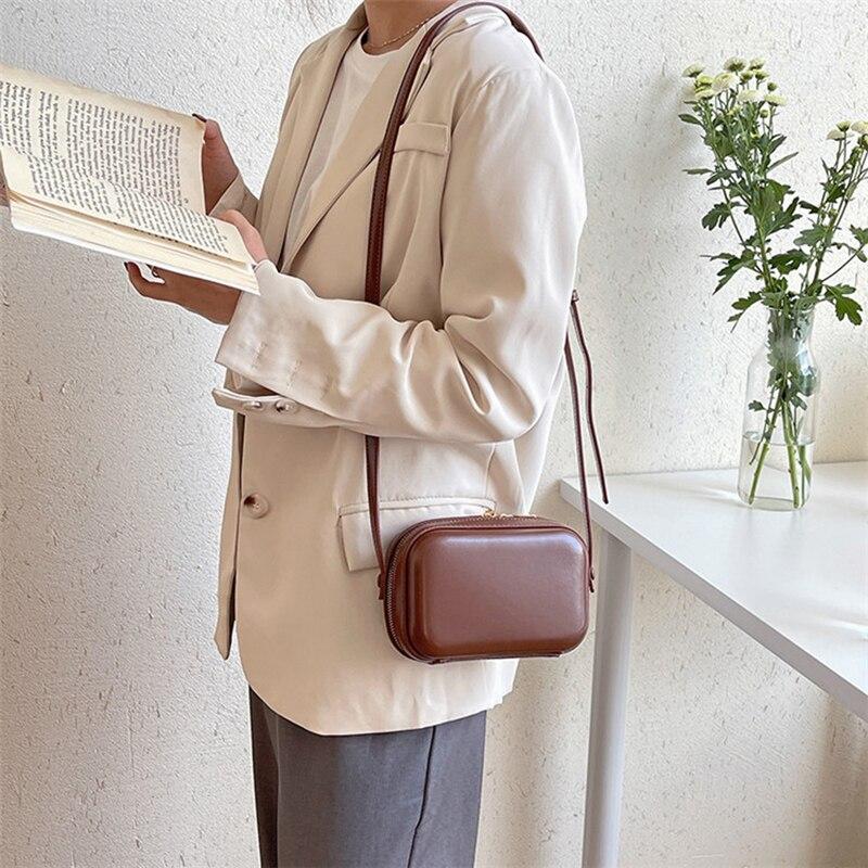 YIFANGZHE Fashion Women Crossbody Bags Hard Case Quality PU Leather Mini Bags Ample Space Shoulder Satchel Storage Phone Pocket
