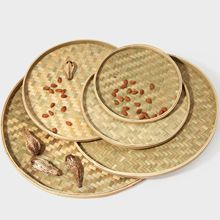 Напрямую от производителя в настоящее время доступны ручной работы бамбуковая плетеная Бытовая бамбуковая сито Dustpan cha ye shai Bamboo Produ