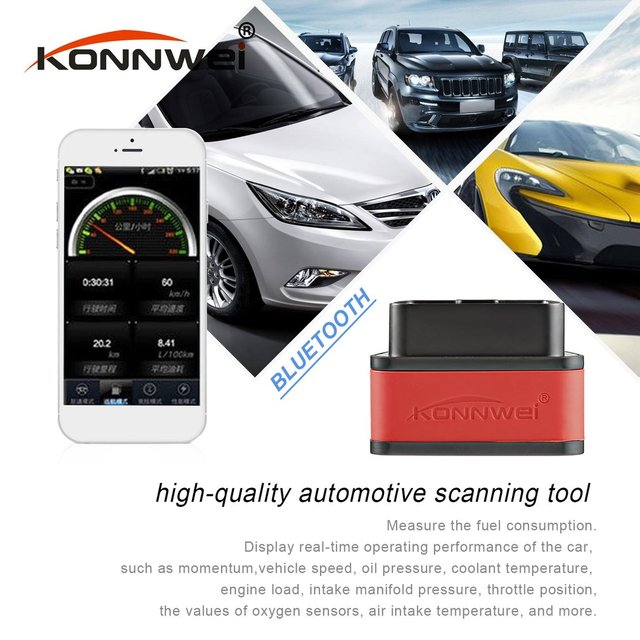 Konnwei KW903 ELM327 Bluetooth ODB2 voiture Diagnostic Scanner détecteur outil lecteur de Code pour Android OBDII Scanner automatique chaud