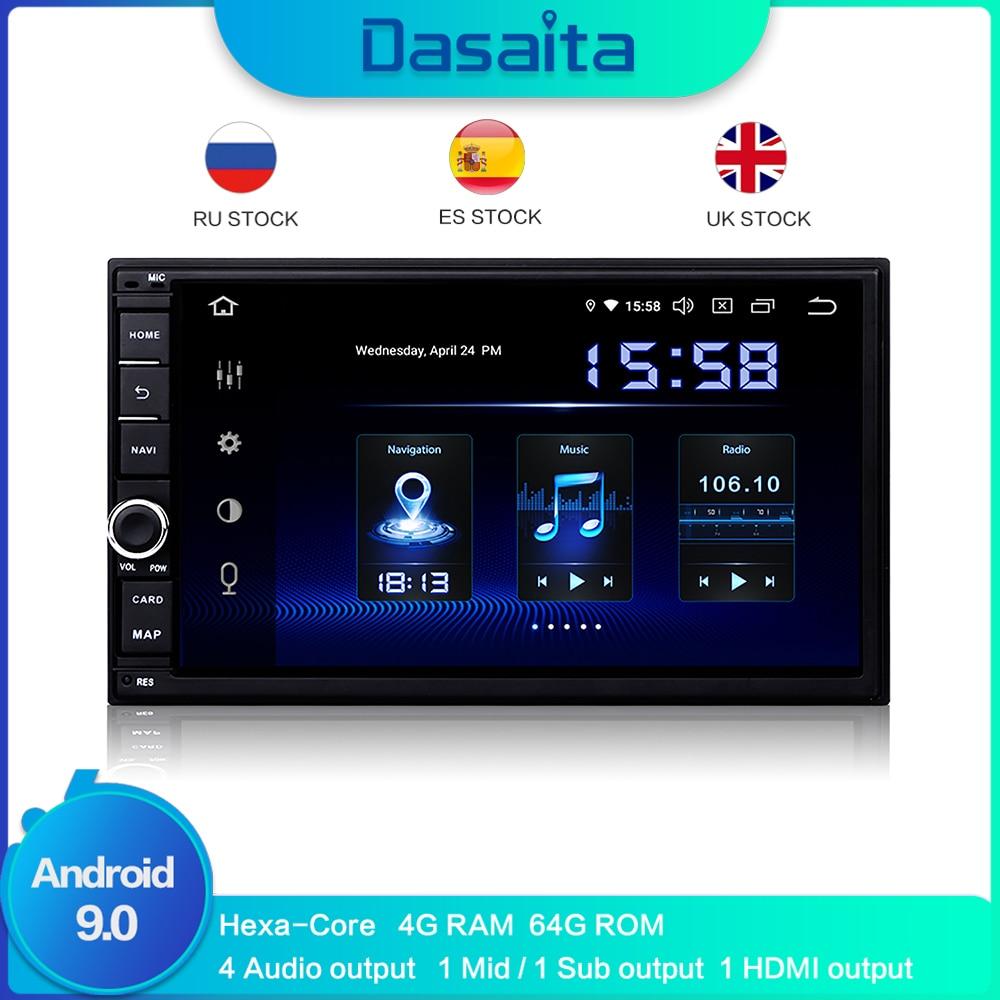 Dasaita 10.2 1 Din Android Stereo Auto Autoradio con IPS Schermo Canbus per Nissan X-Trail 2014 2015 2016 2017 2018,navigatore Autoradio Supporto Bluetooth WiFi Google Play Carplay DAB