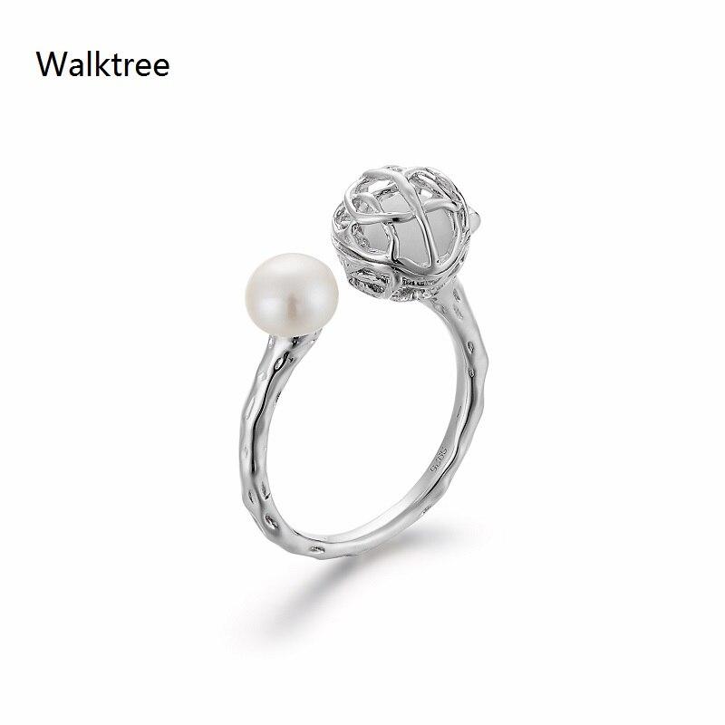 Mode huile essentielle diffusant des bijoux rotin boule perle ouverte femme S925 anneau