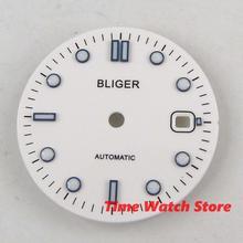 Циферблат часов 31 мм Bliger часы мужские часы с белым циферблатом, калибр ETA 2836 2824 2813 3804 Miyota D170