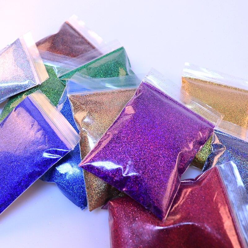 RIKONKA 21pcs Holographic Nail Glitter Powder Shining Sugar 50G/Bag Nail Glitter Hot Sale Dust Powder For Nail Art Decorations