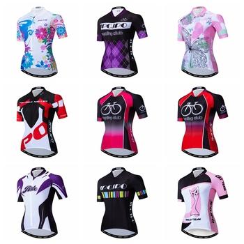 Koszulka kolarska 2020 kobiet koszulki rowerowe szosowe rower MTB koszule Ropa Ciclismo maillot wyścigi topy oddychająca dziewczyna cykl top biały tanie i dobre opinie weimostar Poliester Krótki WOMEN cycling jersey summer AUTUMN Zamek na całej długości Jazda na rowerze Pasuje prawda na wymiar weź swój normalny rozmiar