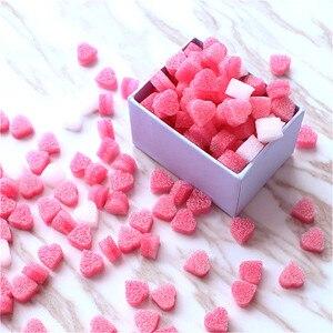 100pcs Pink Mini Heart Love Beads Foam Strip Slime Gift Box Fluffy Slime Filler Sludge Clay Packing Wedding Flower Box Filler