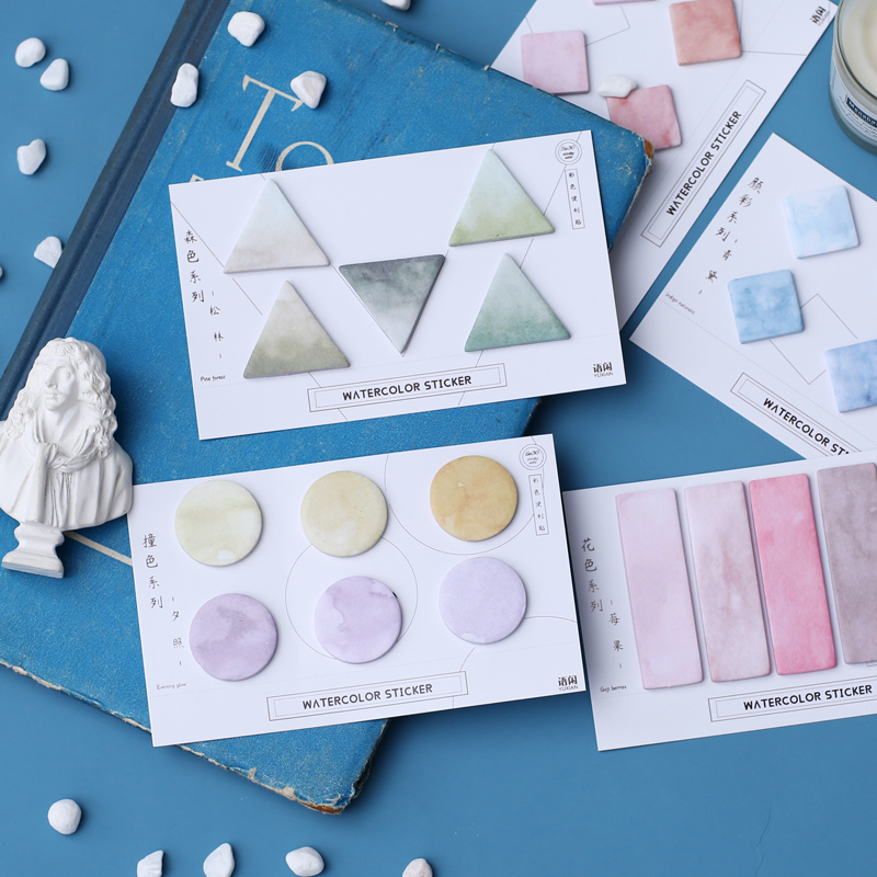 JIANWU Cute Gradation Color  Memo Pad Sticker Notepad Creative Message Sticker Modeling Kawaii School Supplies Bullet Journal