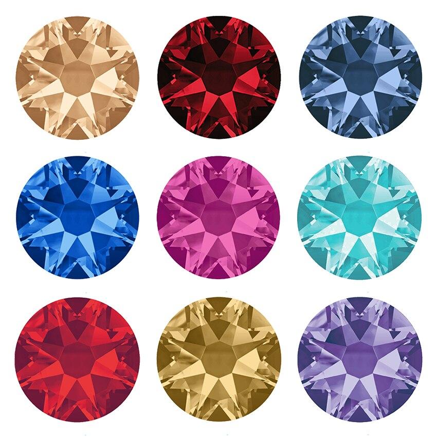 Yanruo 2088 quente fix 8 grandes 8 pequenas pedras e cristais needlework plana volta strass diy hotfix strass para roupas
