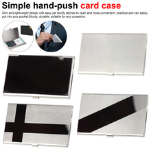 Stainless Steel Credit Card Wallet for Men Women Business High Quality Aluminum Case Cover