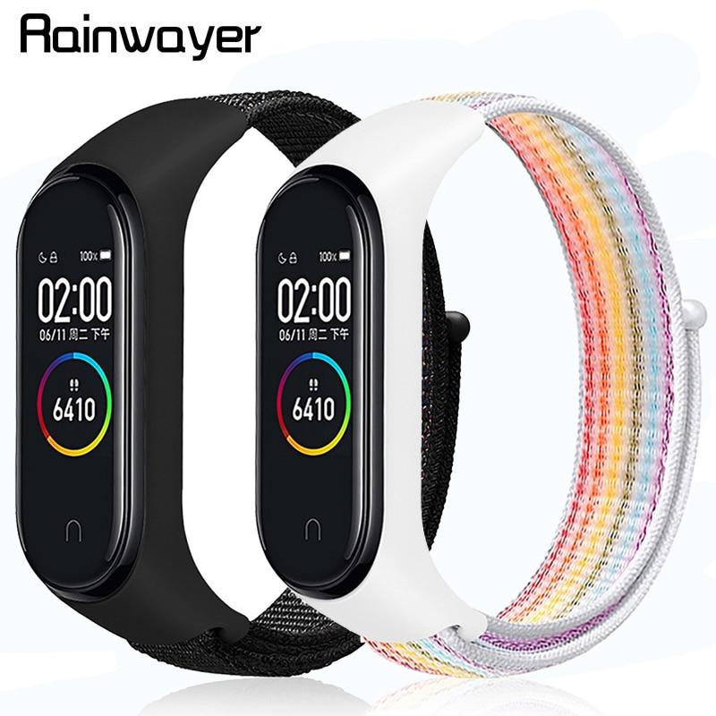 M4 Smart Wristband Smartband Waterproof Blood Pressure Heart Rate Monitor Fitness Tracker Smart Bracelet Band With Nylon Strap