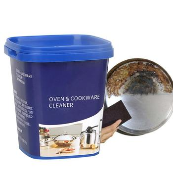 Oven&Cookware Cleaner Kitchen Washing Pot Bottom Black Scale Decontamination Household Stainless Steel Cleaning Paste Powerful kitchen stainless steel wash pot tool household washing dish decontamination cleaning wire ball large steel wool