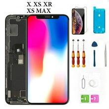 Nowy 1:1 doskonale 5.8 cal dla iphone Xs wyświetlacz LCD ekran dotykowy Digitizer zgromadzenie części zamienne do telefonu dla iPhoneXR Xs max