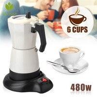 480 w 6 xícaras de chá elétrico cafeteira cafeteira cafeteira máquina mocha removível máquina café para escritório em casa|Cafeteiras| |  -