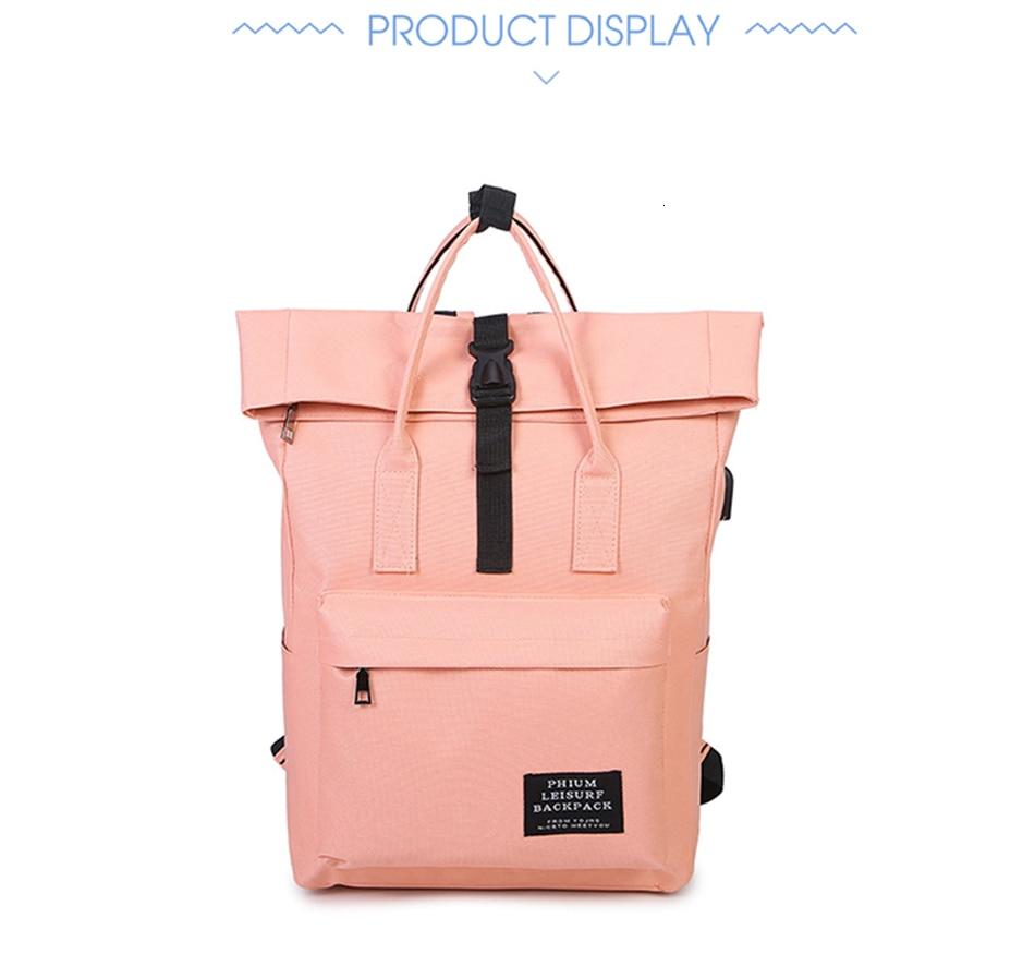 Hf7bf78c95aae4ed0938587dc1c009802a TTOU Women External USB Charge Backpack Canvas School Backpack Mochila Escolar Girls Laptop Backpack