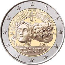 Itália 2016 prato 2200 aniversário 2 euro real moedas originais verdadeiro euro unc