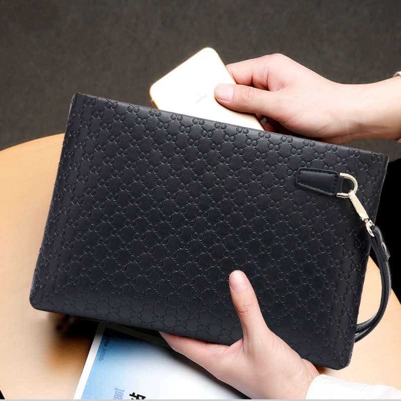2020 Luxury Brand Laptop Sleeve Men Zipper Coin Pocket Purse Men Wallets Casual Business Card Holder Large Male Clutch IPAD Bag