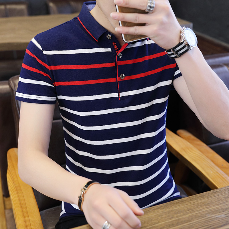 Brand Summer Stripped Polo Shirt Mens New Stylish Short Sleeve Polos Male Hot Streetwear Men Shirts Casual Camisa Polo Masculina