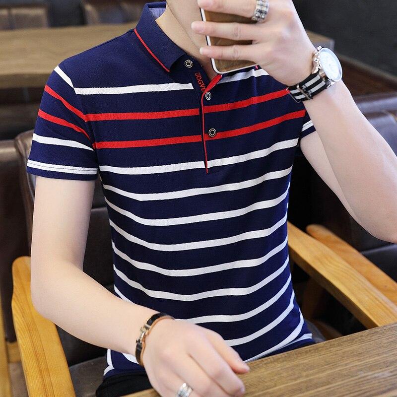 Brand Summer Stripped Polo Shirt Mens New Stylish Short Sleeve Polos Male Hot Streetwear Men Shirts Casual Camisa Polo Masculina