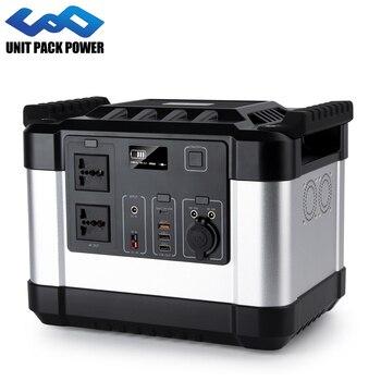 Generador de energía portátil de 1000W, con inversor integrado, respaldo de emergencia, estación con AC/DC/USB/tipo-c, salida múltiple, fuente de alimentación para exteriores 1