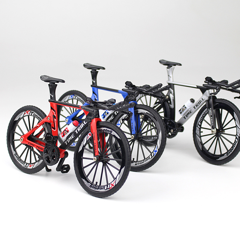 NEW Delicate Crazy Magic Finger Bike Alloy Bicycle Model 1:10 Bicycle Bend Road Mini Racing Toys Adult Collection Gifts 17.5CM