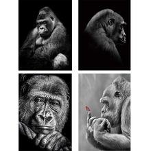 Алмазная вышивка в виде животного gorilla 2020 5d алмазная картина
