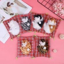 Плюшевые игрушки милая имитация куклы плюшевые животные кошки