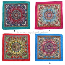 54cm Ethnic Style Women Men Punk Hip Hop Bandana Bright Colorful Paisley Floral Print Square Scarf Cycling Au31 19 Dropship square scarf with paisley print