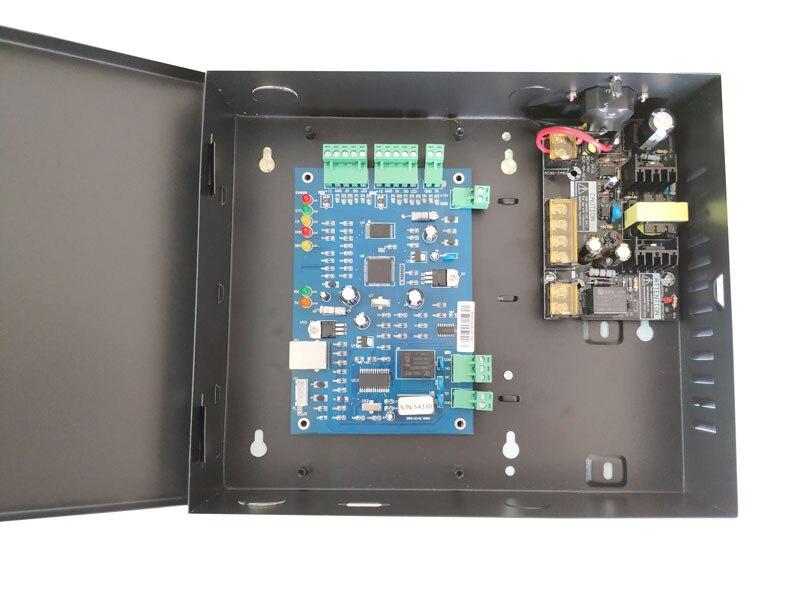 TCP IP Controlador de Acesso única Porta kit com caso o poder 110 V/220 v fonte de alimentação suporte 20K Usuários 100K Eventos sn: b01 set - 2