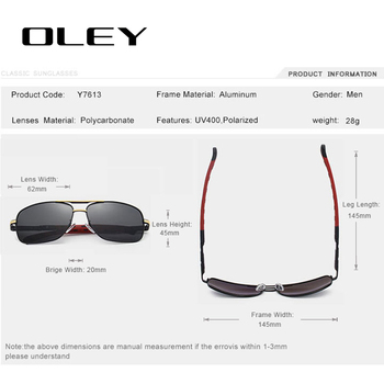 OLEY Brand Polarized Sunglasses Men New Fashion Eyes Protect Sun Glasses With Accessories Unisex driving goggles oculos de sol 10