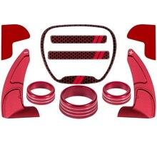 Para dodge challenger carregador durango 2015 2020 volante shift paddle + emblema kit + condicionador de ar interruptor botão cd