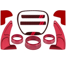 for Dodge Challenger Charger Durango 2015 2020 Steering Wheel Shift Paddle+Emblem Kit+Air Conditioner Switch CD Button