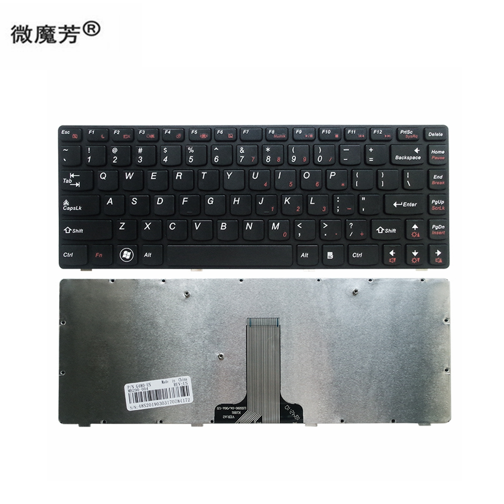 US Black New English Replace laptop <font><b>keyboard</b></font> For <font><b>Lenovo</b></font> G400 g410 G480 G485 Z380 <font><b>Z480</b></font> Z485 G410 G490 G400 G405 G410 image