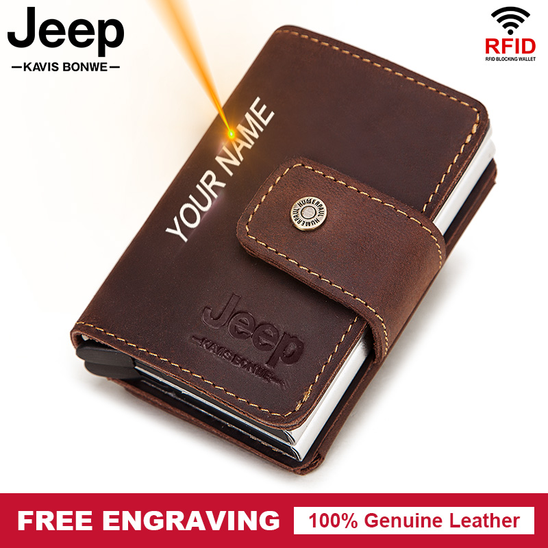Leather Fashion Wallet RFID ID Credit Card Case Blocking Anti Scan Pocket Holder