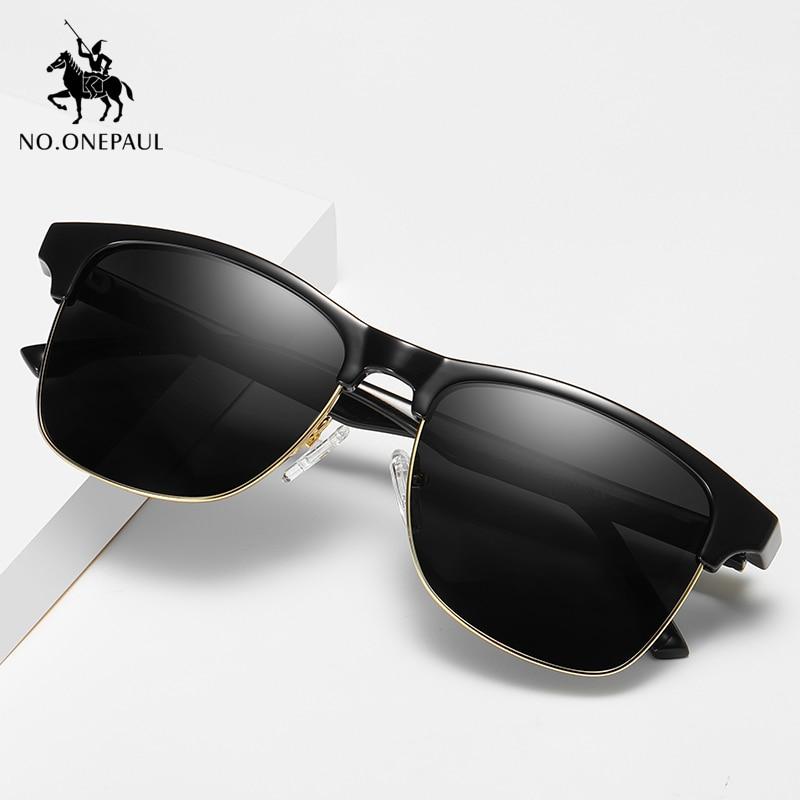 NO.ONEPAUL Fashion Black Sunglass UV400 Coating Lens Driving Eyewear For Men/Wome Sunglasses Classic Square Glasses Male