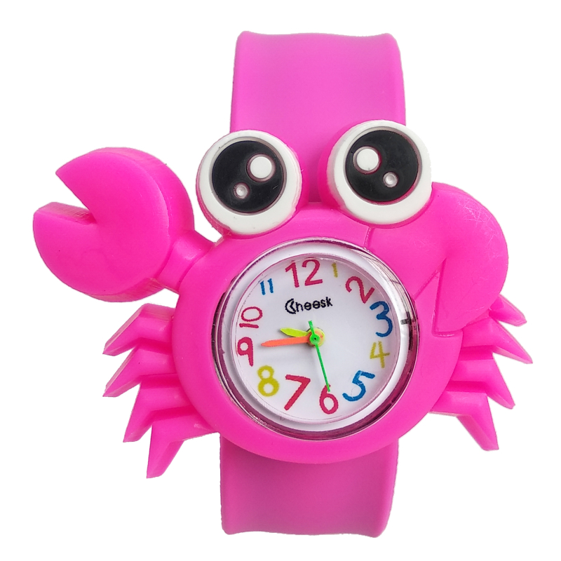 Cute Crab Toys Kids Watches Soft Silicone Band Children Watch Boys Girls Clock Child Quartz Waterproof Watch Relogio Infantil K7