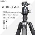 BEXIN W284C + M36 камера Компактный алюминиевый Профессиональный дорожный штатив монопод панорамный шаровой головкой для DSLR Canon