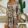 4# Women's Vintage Summer Dress Loose Plus Size Print Dresses V-neck Mini Dress Off Shoulder Dresses Ropa Mujer Beach Dress 5