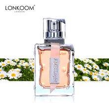Lonkoom flores marca edp feminino perfume ploral-frutado aroma eau de parfum fragrâncias de longa duração spray 100ml