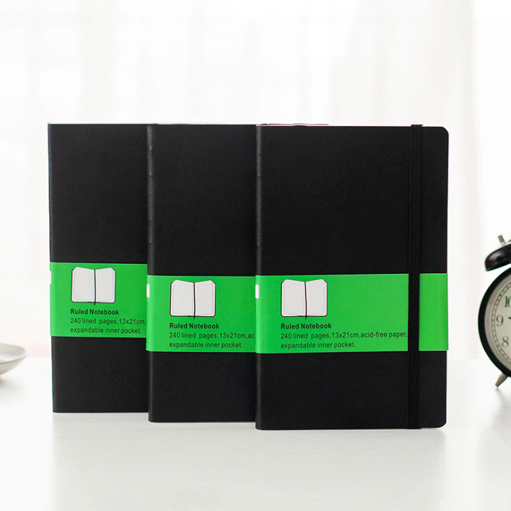 Factory Direct Notebook Stationery Moleskine Classic Tying This Blank Grid Horizontal Thick Notebook