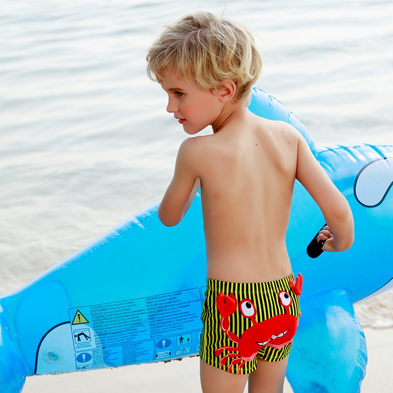 New Style CHILDREN'S Cartoon Bathing Suit Swimming Trunks BOY'S With Swimming Cap Swimming Trunks CHILDREN'S Cartoon Swimming Tr