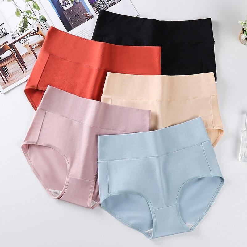 High waist women's underwear large size XXXXL soft cotton warm palace COMFORTABLE panties Female sexy Seamless Briefs 2